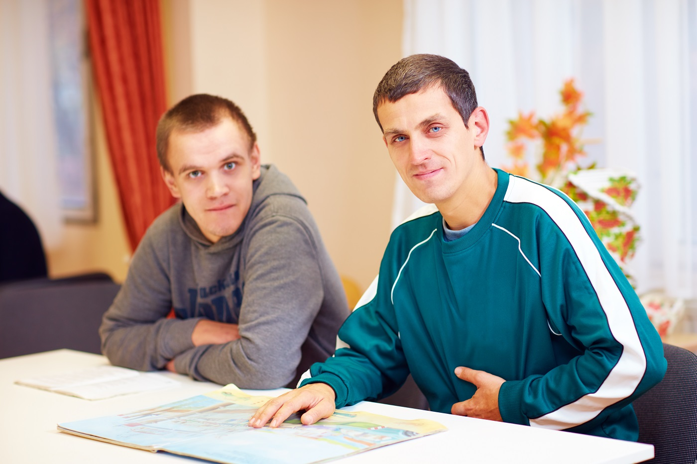 a picture showing two sufferers of autism spectrum disorder